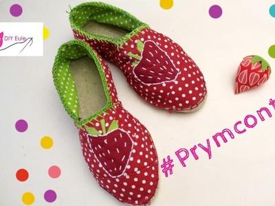 #Prymcontest : meine genähten Erdbeer-Espadrilles. DIY Eule
