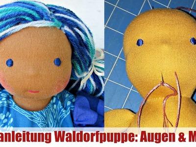 DIY | Augen und Mund sticken (Waldorfpuppe)| Klassische Sami Doll Anleitung | Teil 4