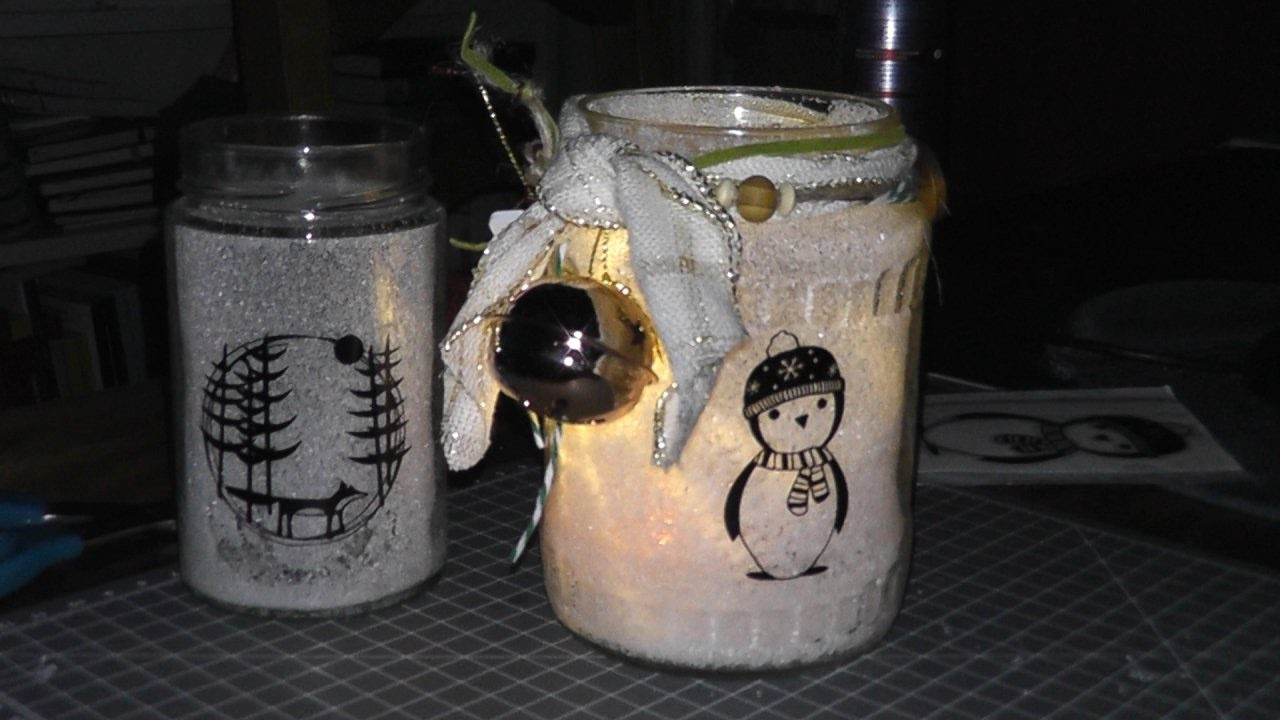 DIY Gefrostete Gläser.  Christmas Deko weihnachtlich. Tutorial. Miniverlosung