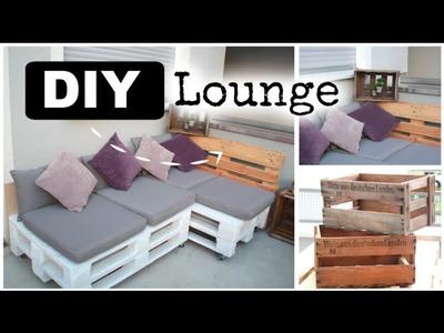 DIY Lounge aus Europaletten ❤  #ad