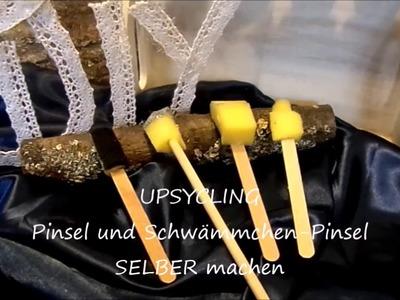 DIY: Wir BASTELN Pinsel ;Schwämmchenpinsel für viele MALTECHNIKEN,Upsycling-by kekaplauderei