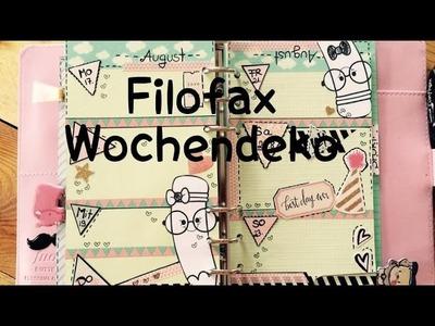 DIY---Wochendeko---Planer---KW34 |Filofax [tutorial | Vlog]^^