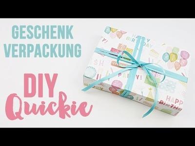 Geschenkverpackung Quickie | schnelle Faltbox aus Papier | DIY Tutorial