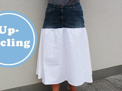 Rock aus alter Jeans nähen - ein schnelles DIY Projekt