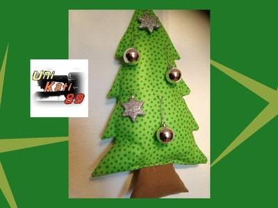 Tannenbaum Rossi nähen Schnittmuster Weihnachten Kissen Deko Weihnachtsbaum DIY  #UniKati89