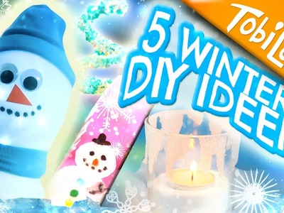 5 Winter DIY Bastelideen | Winter basteln | Winter DIYs Deutsch | Kinderkanal | DIY -  Tobilotta
