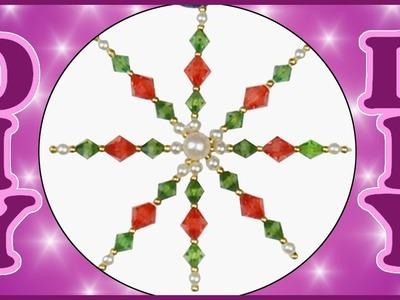 DIY | Weihnachten Baumschmuck Draht Perlensterne basteln | Beaded Wire star christmas tree ornament