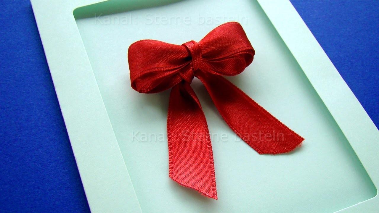 Turbo Weihnachtskarten basteln: DIY Schleifen binden mit Geschenkband EZ73