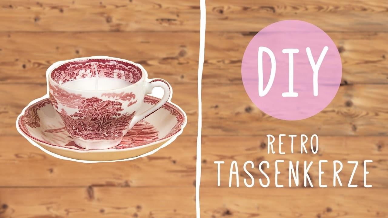 DIY Tassenkerzen aus Retro Tassen