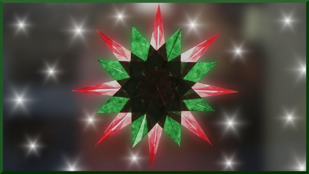 diy waldorf fensterstern basteln weihnachtsstern falten paper christmas window star. Black Bedroom Furniture Sets. Home Design Ideas