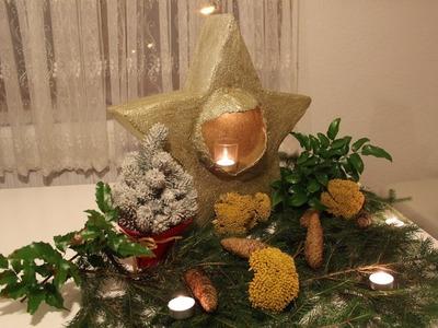 DIY: XL Weihnachts-Stern für Kerzen | DEKO