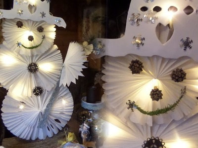 DIY: Schneeman aus Butterbrotpapier als STANDFIGUR mit LED Beleuchtung BASTELN