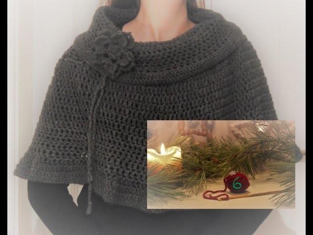 (eng. sub) Crochet Along Adventskalender 6 | Poncho Blume häkeln | Crochet Flower