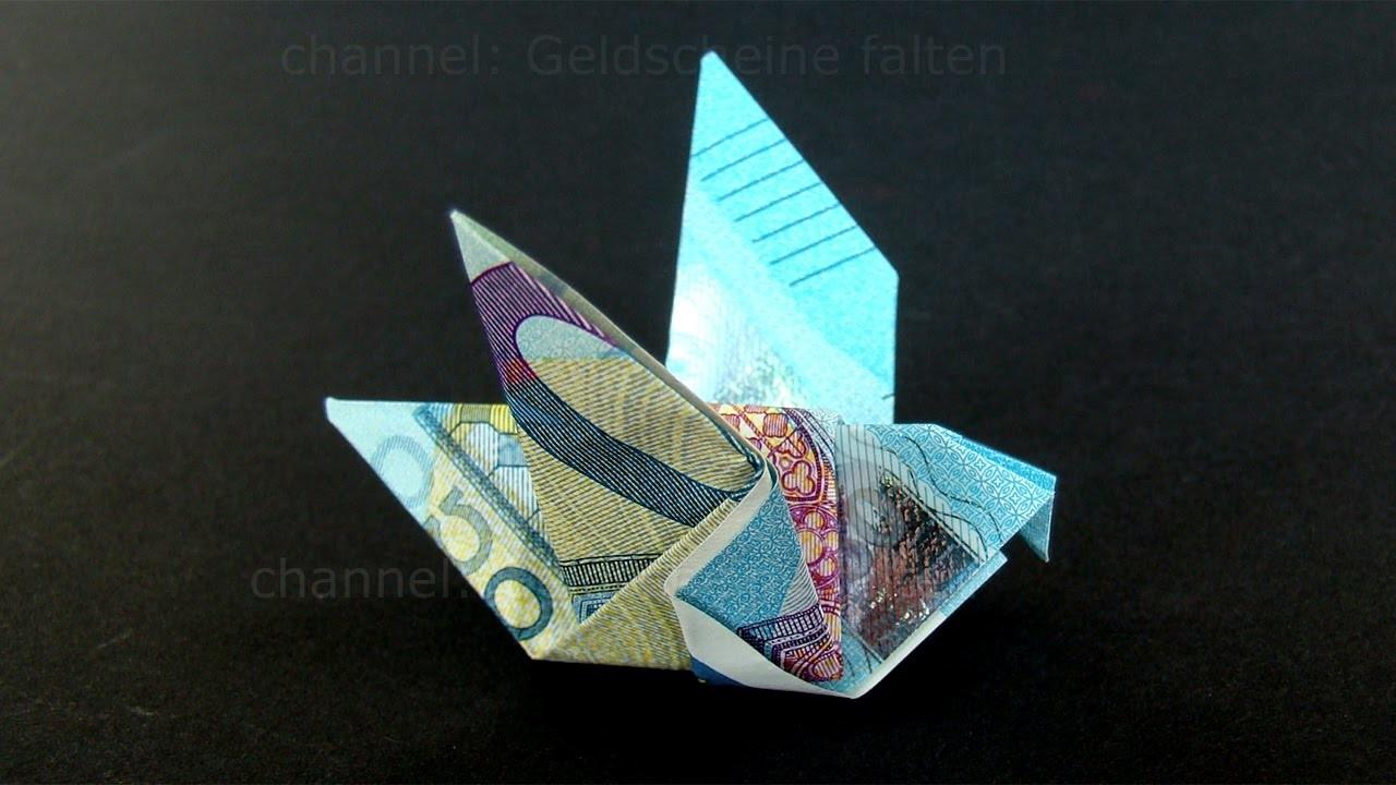 geldschein falten taube einfachen origami vogel mit geld falten diy geldgeschenk. Black Bedroom Furniture Sets. Home Design Ideas