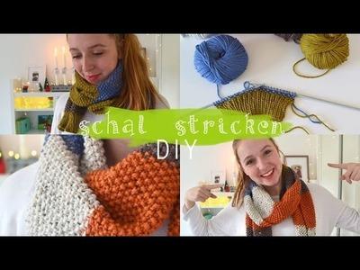 Perlmuster Schal selber stricken | Anleitung für Anfänger | DIY