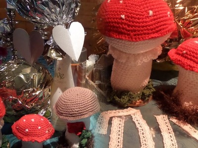 DIY : GLÜCKS-Pilze häkeln,Glücksbringer SELBER Machen,verschiedene Modelle, Tipps+ Tricks