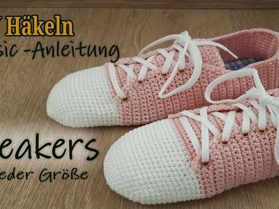 DIY Häkeln - Basis Anleitung Sneakers | Turnschuh - how to