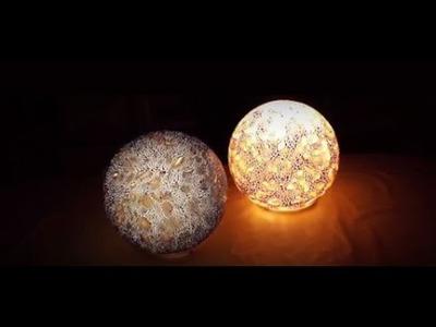 DIY: Kugellampe mit Viva Decor Facettenlack gestalten