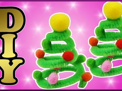 DIY | Pompom Tannnenbaum aus Pfeifenputzer basteln | Pompom pipe cleaner christmas tree