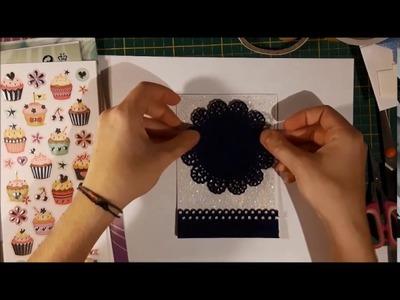 [Watch me Craft] DIY Glitzer Geburtstagskarte mit Filz (Folia)