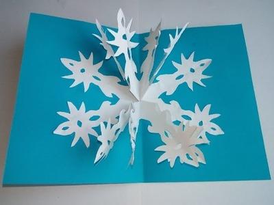 Bastelideen zu Weihnachten. 3D-Weihnachtskarten machen. Pop Up Karten DIY