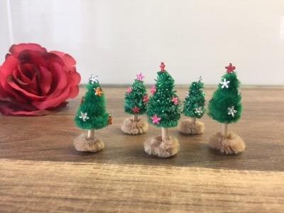 DIY Mini Tannenbaum basteln, Weihnachtsbaum mit Kindern herstellen, Weihnachten