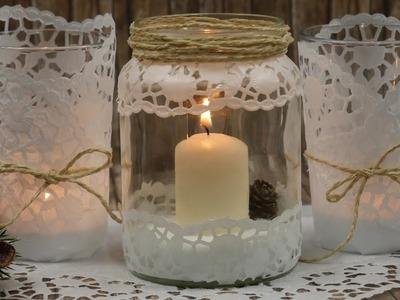 DIY Windlicht basteln | Last Minute Geschenk | Windlicht mit Papierspitze | Geschenkidee