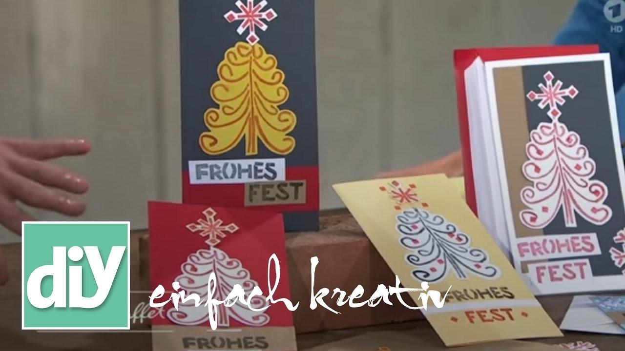 Weihnachtspost und Tischkarten mit DIY-Stempeln | DIY einfach kreativ