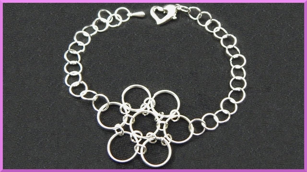 DIY | Blumen Armband aus Ösenringen basteln | Easy Jumprings Flower bracelet | chainmaille jewellery