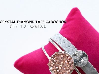 DIY TUTORIAL: Crystal Diamond Tape Cabochon – Selbst Schmuck machen