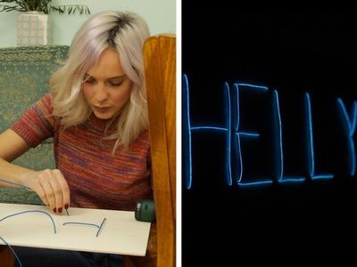 Neon-Leuchtschild |  DIY  | Jelena
