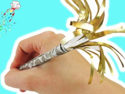 Silvester 2016 Deko selber machen | Stift mit Silberpapier im Feuerwerk Look | DIY Tischdeko