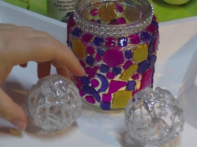 DIY - Eiskugeln aus Heißkleber. Silvesterdeko - Variante 2