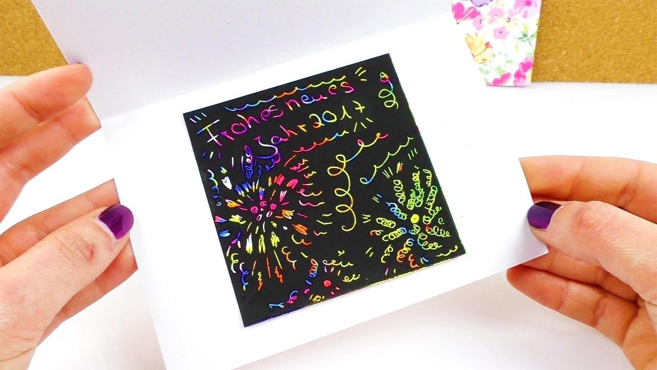 DIY Feuerwerk für eure Silvester Party | Tolle Kratzbild Karten selber machen | lustiger Party Spaß