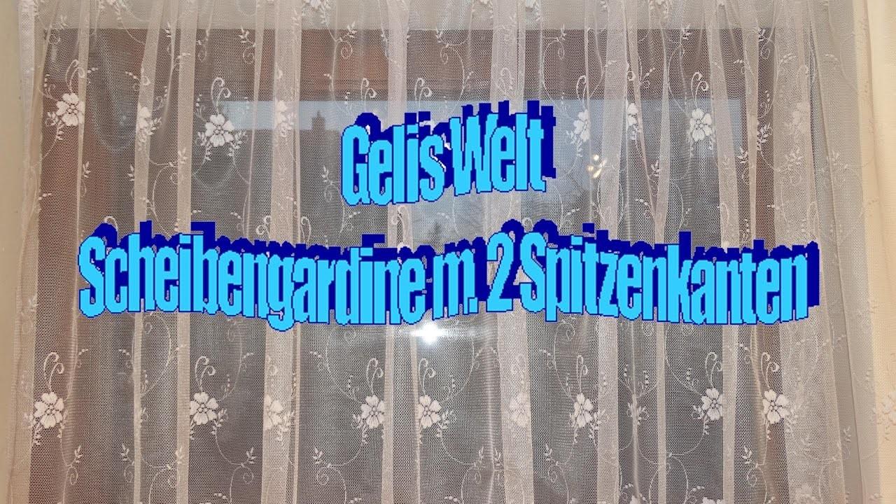DIY Scheibengardine mit 2 Spitzenkanten & Tunnel