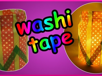 DIY washi tape challenge | Teelichthalter | Kerzenhalter | Tealight holder | candle light |