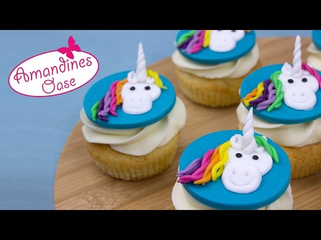 Einhorn Cupcakes   unicorn rainbow cupcake topper   Central Intelligence Film Verlosung
