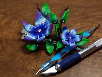 Fimo Haarspange - Blumen