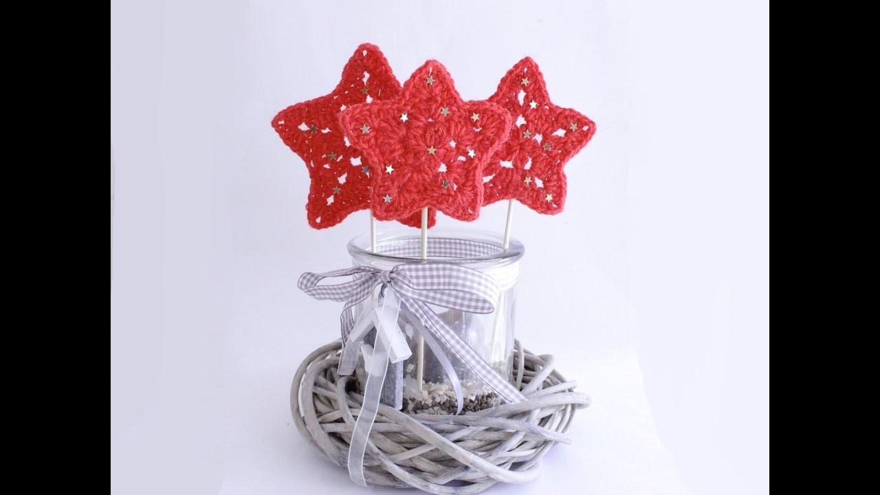 Stern, Weihnachtsstern Häkelanleitung