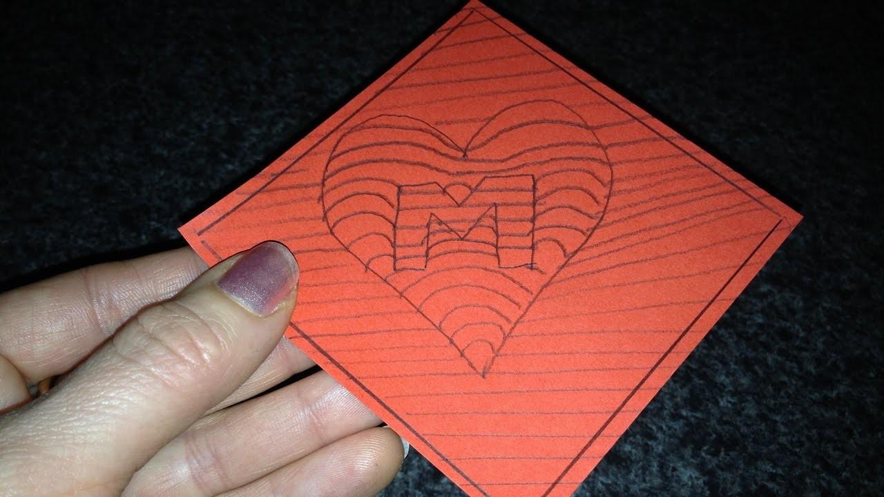 """DIY 3D Bild Herz """"M"""" Geschenk zum Muttertag, Valentinstag, GIFT IDEAS for Mother´s day"""