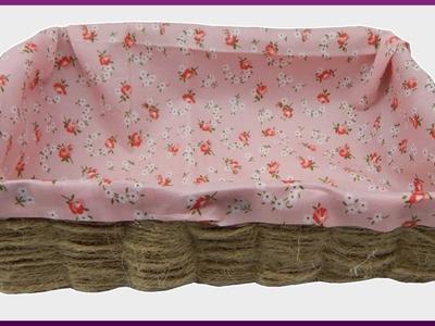 DIY | Aufbewahrungsbox mit Blumenstoff (kein nähen) | Storage box with flower fabric (no sew)