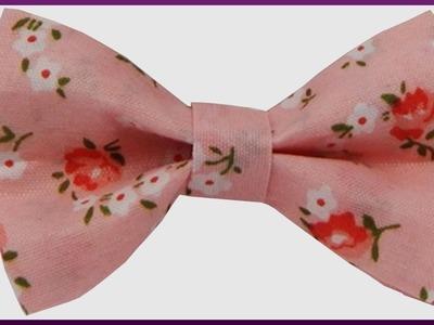 DIY Kanzashi   Haarspange Schleife aus Stoff ohne nähen basteln   Barrette fabric bow (no sewing)