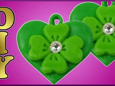 DIY | Neujahr Fimo Herz mit Glückskleeblatt | New year clay lucky charm heart with shamrock