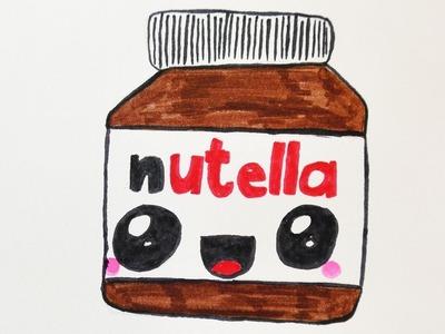 KAWAII NUTELLA DIY zeichnen | süße Schoko Creme malen für Einladungen und Geburtstagskarten