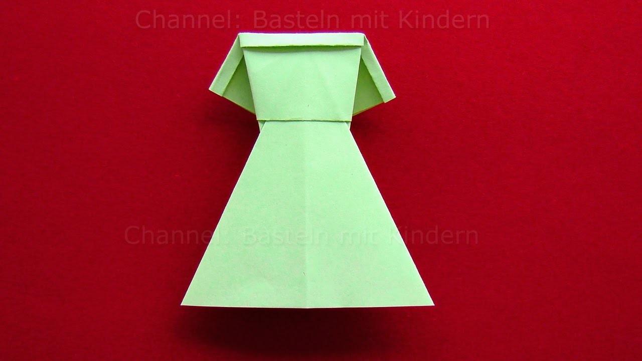 origami kleid falten diy kleider basteln mit kindern origami kleidung aus papier. Black Bedroom Furniture Sets. Home Design Ideas