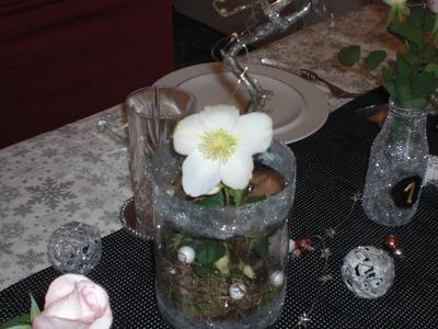 DIY - Silvesterdeko - Gesteck. Blumenglas