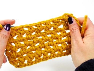 Perlen Stich mit hStb | einfaches Häkel Muster | Lochmuster Häkeln | Einfach & Schnell
