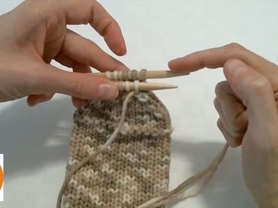 Stricken wir! - Socke 5.5: die Socke mit Maschenstich beenden