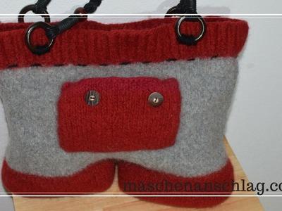 Bavariatasche stricken | Tasche stricken und filzen | Anleitung