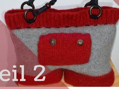 Teil 2 Bavariatasche stricken | Tasche stricken und filzen | Anleitung